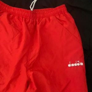 red diadora tracksuit pants great condition